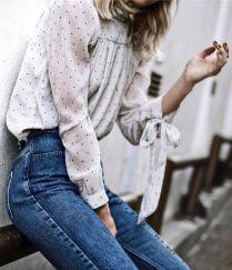 pola dots blouse