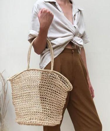 straw totes bag
