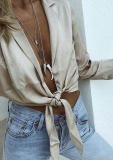tie top with denim