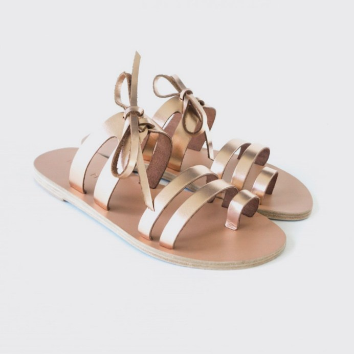 arkos sandals natural bronze