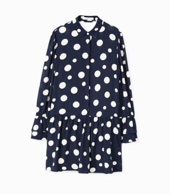 mango polka dot ruffle dress
