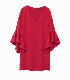 mango ruffle sleeve dress