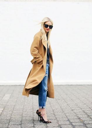 oversized camel coat