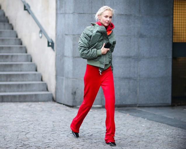 green and red look