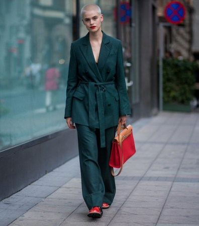 red and green outfit