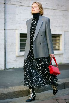polka dot dress with boots