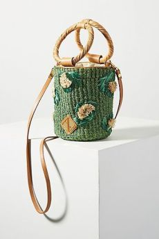 aranaz bianva embroidered bucket bag