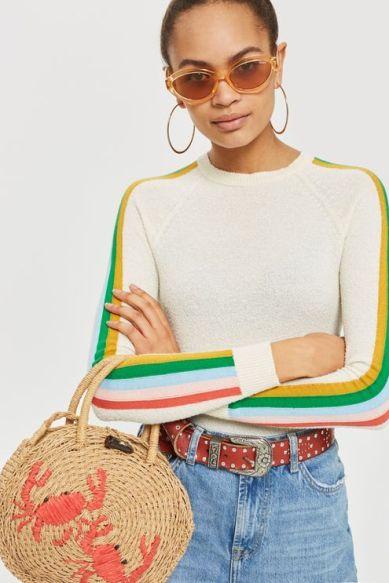 straw tote bag mini