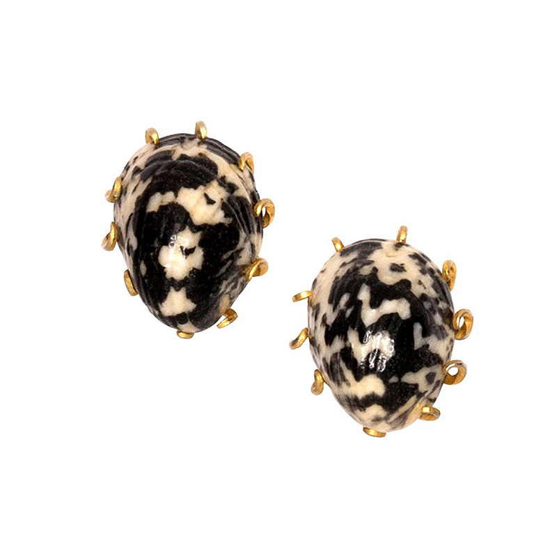 clip one shell earrings