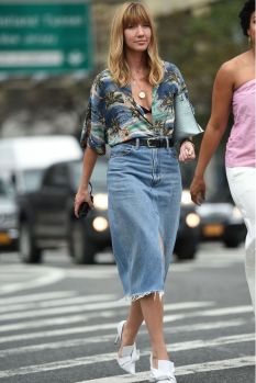 denim skirt new york style