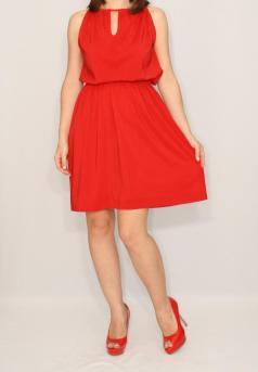 short-red-dress-chiffon-dress-bridesmaid-dress-keyhole-dress