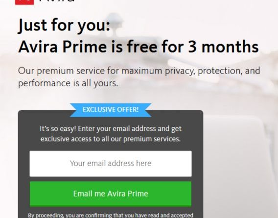 Avira Prime Serial Key 2019 Free for 3 Months
