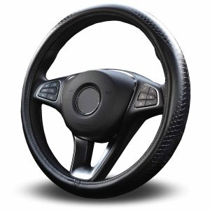 Moyishi Top Leather Steering Wheel Cover Universal Fit Soft Breathable Steering Wheel Wrap