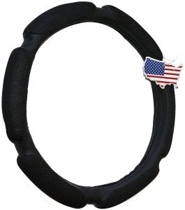 Steering Wheel Cover - Black, Odorless