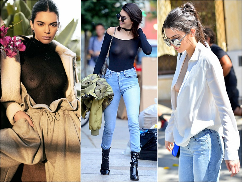 Braless Celebrities_kendall jenner