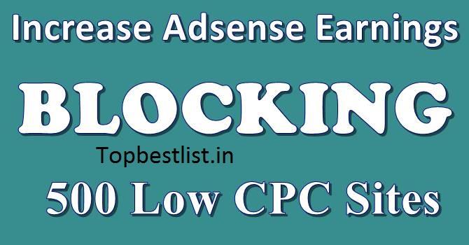low CPC adsense list