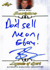 """Leaf Brian Gray """"Dont sell me on Ebay"""" Signed 2015 Legends of Sport Insc. Ca"""