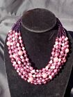 Dazzling Czech Handmade Cultured PEARL Necklace #4 / 20 Years Selling on Ebay