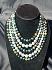 Dazzling Czech Handmade Cultured PEARL Necklace #5 / 20 Years Selling on Ebay