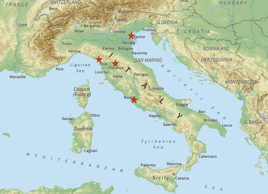 Italy Itinerary: The Perfect Two Weeks map