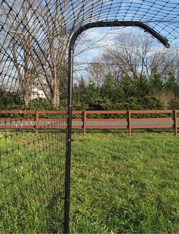 a free-standing cat fence