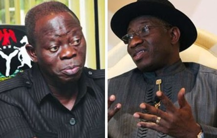 Image result for Oshiomhole attacks Jonathan again
