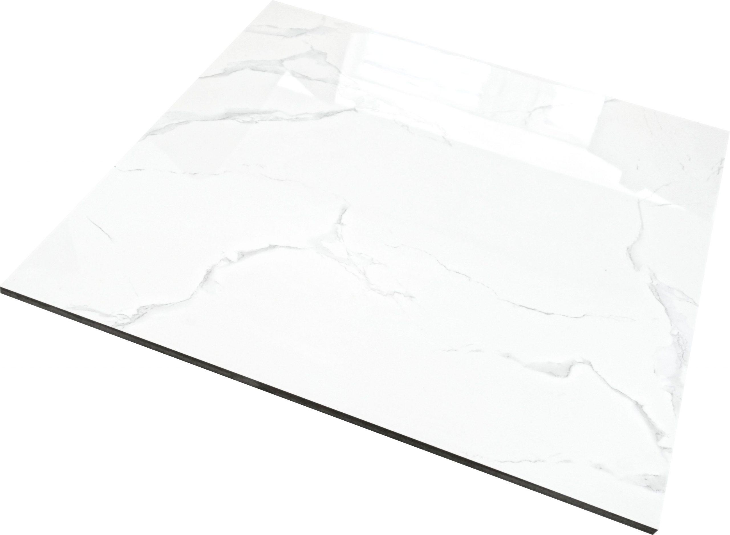 white marble high gloss 60x60cm