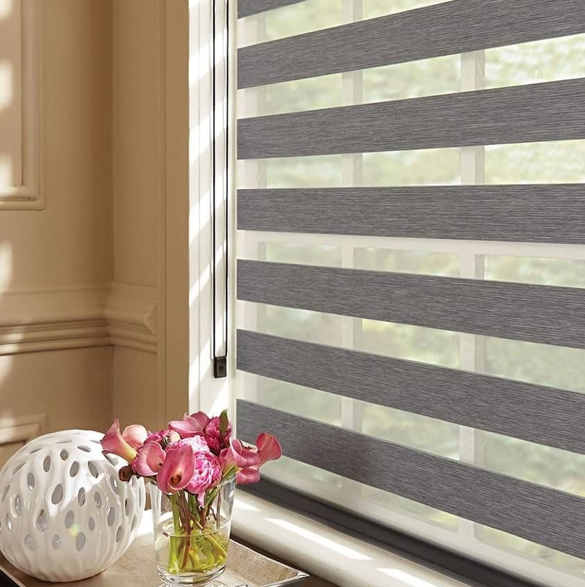 Grey Day And Night Window Blind Topchoice Deals