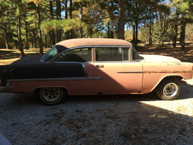 1955 Chevy 2 door Bel Air project car  for sale  photos  technical     1955 Chevy 2 door Bel Air project car