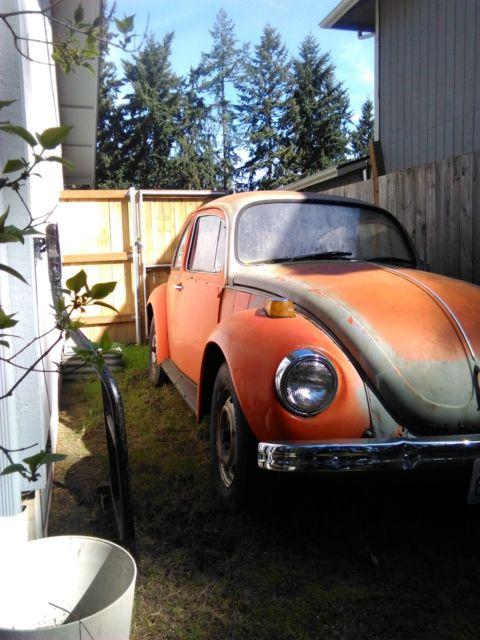 Orange Convertible Beetle Bug