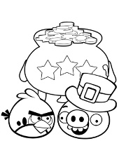 Angry Birds quality coloring pictures