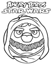 Colouring page Angry Birds