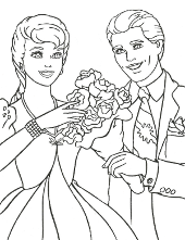 Barbie and Ken flowers