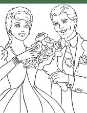 Barbie and Ken flowers