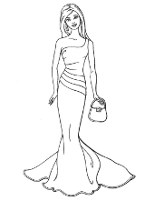 Barbi printable coloring pages