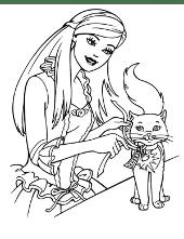 Barbie with animals