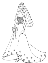 barbie and ken flowers barbie wedding day mini - Barbie Coloring Pages Print