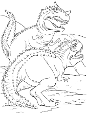 Two dinosaur coloring page