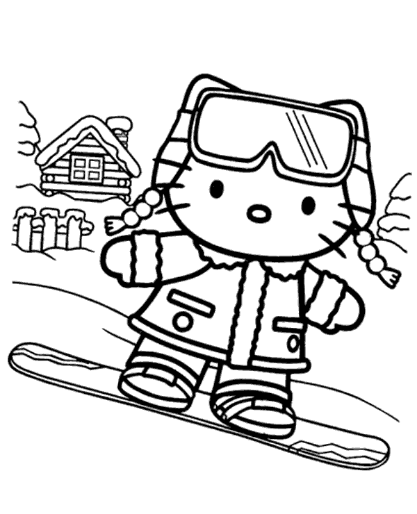 Winnie Pooh Winter Coloring Sheets