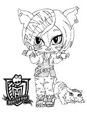 Monster high motive to color