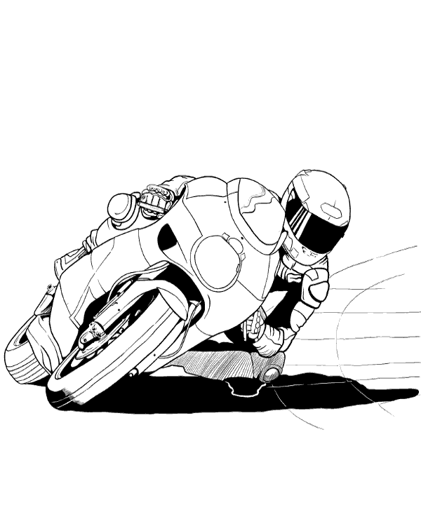 Motorcycle Race Printable Image To Print Or Download For Free