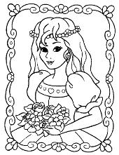 Queen's poirtrait coloring page
