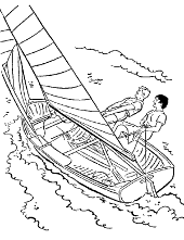 Windsurfing colouring book