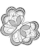Figured butterfly