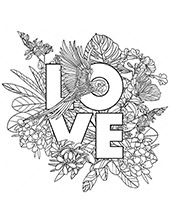 Coloring page love