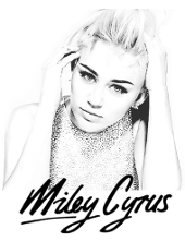 Miley Cyrus print and color