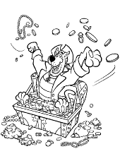 Scooby doo as a pirate colouring page