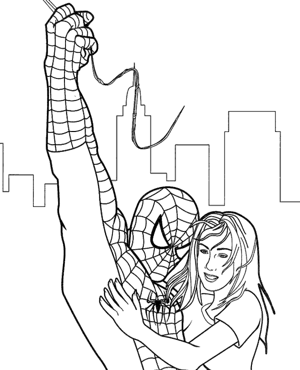 Colouring Pages Venom : Spiderman coloring pages pictures sheets peter parker