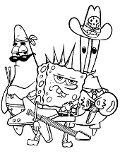 Spongebob with friends