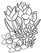 Spring flowers for coloring